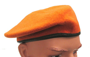 Czech Military Beret ORANGE/RED - European Military Surplus Beret -Various Sizes