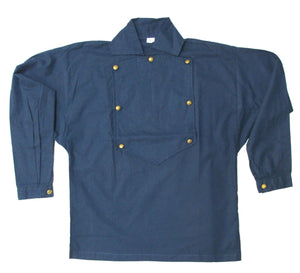Reproduction Civil War Battle Shirt - Civil War Bib Shirt BLUE - Various Sizes