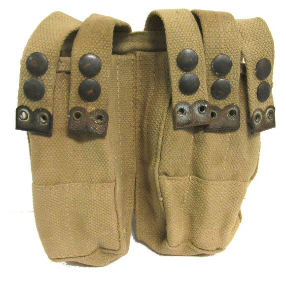 Authentic Israeli Military Surplus Uzi 5 Cell Magazine Pouch KHAKI