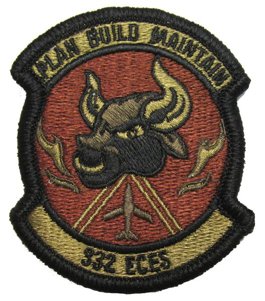 332nd Expeditionary Civil Engineer Squadron OCP Patch - Spice Brown