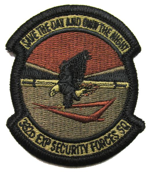 332nd Expeditionary Security Forces Squadron OCP Patch - Spice Brown
