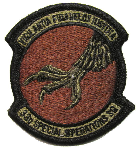 33rd Special Operations Squadron OCP Patch - Spice Brown