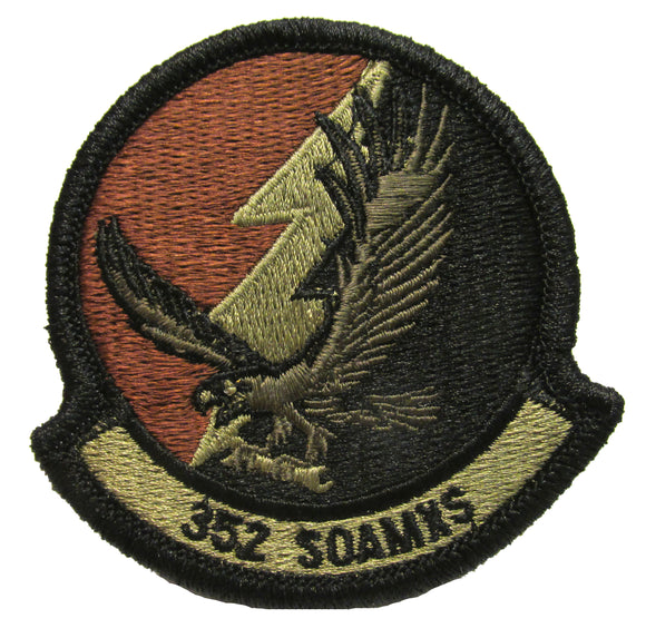 352nd Special Operations Aircraft Maintenance Squadron OCP Patch - Spice Brown