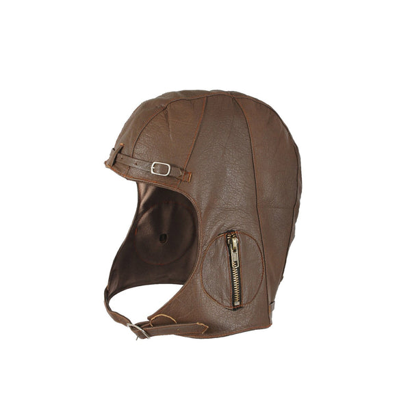 Rothco WWII Style Leather Pilots Helmet Brown