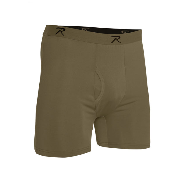 Rothco AR 670-1 Coyote Brown Moisture Wicking Performance Boxer Shorts