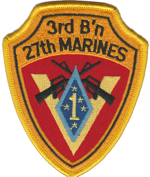 3rd Battalion 27th Marines USMC Patch