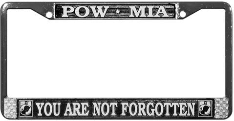 Honor Country POW MIA License Plate Frame