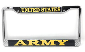 U.S. Army License Plate Frame (Chrome Metal)