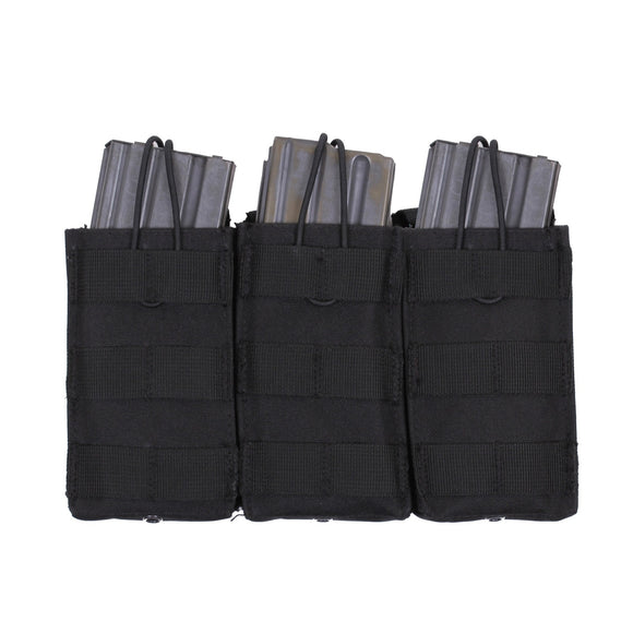 Rothco MOLLE Open Top Triple Mag Pouch Black