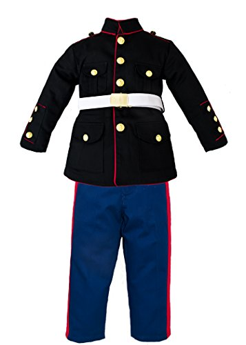 Trooper Clothing Boy's 3 Pc Marine Corp Dress Multi-color Uniform Set