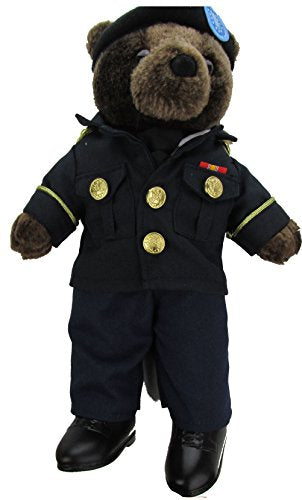 Stuffed Plush Teddy Bear in ASU - Army Service Uniform