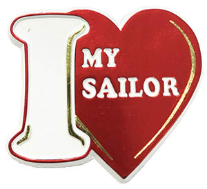 I (Heart) My Sailor Small Cut-Out Magnet