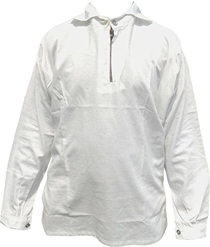 Revolutionary War Era Bleached Cotton Shirt Replica - WHITE