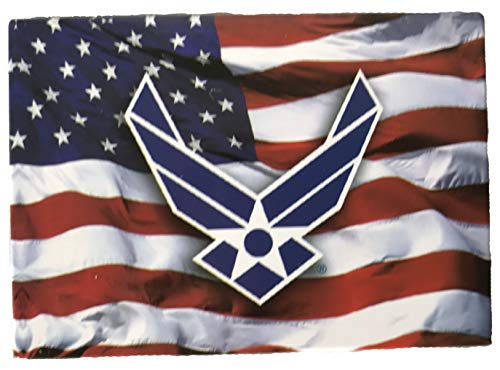 American Flag with U.S. Air Force Symbol - Novelty Military Magnet