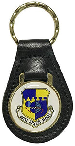 45th Space Wing Patrick AFB Logo on Leather Key Fob