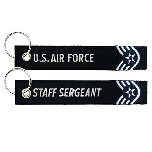 Eagle Crest U.S. Air Force Staff Sergeant Embroidered Key Chain