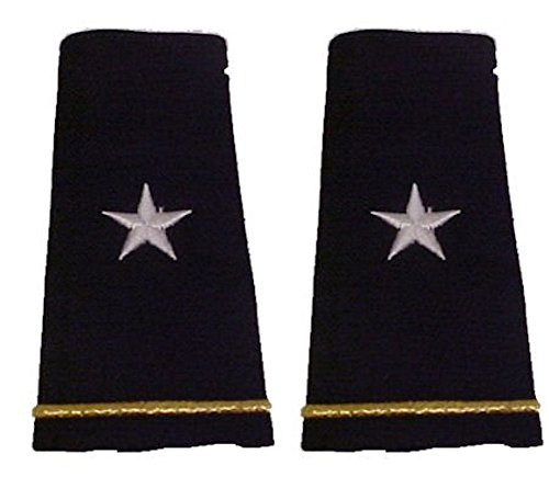 Army Uniform Epaulets - Shoulder Boards O-7 BRIGADIER GENERAL