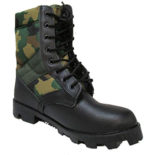 Military Uniform Supply Jungle Boots with Woodland CAMO