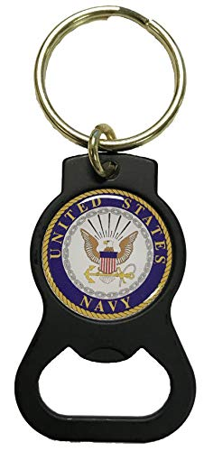 U.S. Navy Crest on Bottle Opener Key Tag