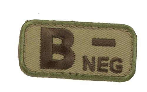 Blood Type Patches - Mil-Spec Monkey MULTICAM (B- NEGATIVE)