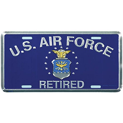Honor Country US Air Force Retired License Plate