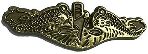 Gold Navy Submarine Dolphins Insignia Small Cut-Out Magnet