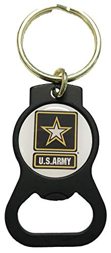 U.S. Army Star Bottle Opener Key Tag
