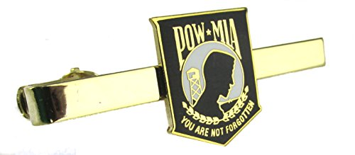 POW/MIA Shield Insignia Tie Bar