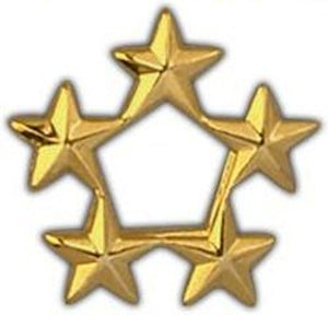 5 Star General Gold Large Pin