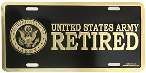 Honor Country U.S. Army Retired License Plate