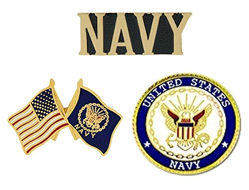 USN U.S. Navy Pins - Novelty Hat Pin 3 PACK