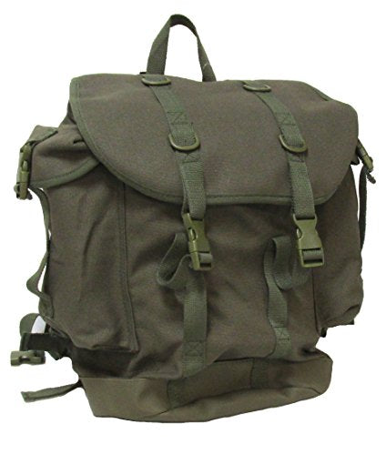 Military Uniform Supply Canvas Assault Rucksack - Olive DRAB