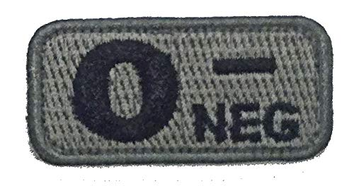 O NEGATIVE Blood Type Patch - FOLIAGE GREEN