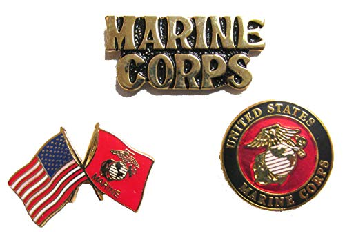 USMC Marine Corps Pins - Novelty Hat Pin 3 PACK