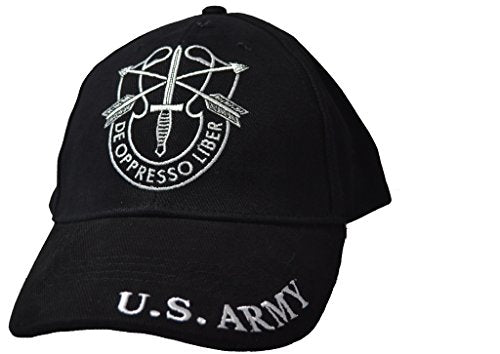Mens Special Forces Embroidered Ball Cap Adjustable Black
