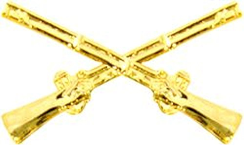 Infantry Crossed Rifles Gold Small Hat Pin