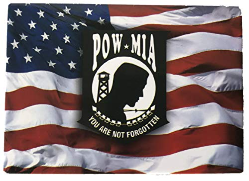 American Flag with POW/MIA Symbol - Novelty Military Magnet