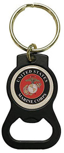 U.S. Marine Crest on Bottle Opener Key Tag