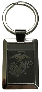 Eagle, Globe and Anchor Logo Laser Etched Key Chain