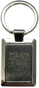 United States Coast Guard Crest Logo Laser Etched Key Chain