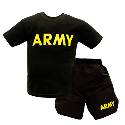 Kids Army PT Uniform - 2 Piece Shirt/Shorts