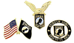 POW MIA Pins - Novelty Hat Pin 3 PACK