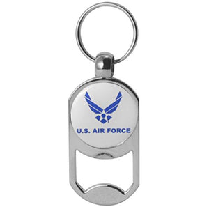 U.S. Air Force Symbol Dog Tag Bottle Opener Military Keychain