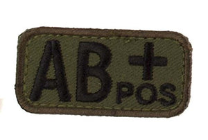 AB POSITIVE Blood Type Patch - WOODLAND