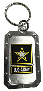 U.S. Army Star Logo Silver Metal Key Chain