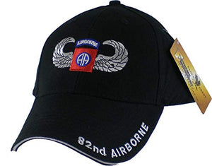 US Army 82nd Airborne with Wings Embroidered Ball Cap