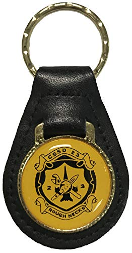 Rough Necks on Leather Key Fob
