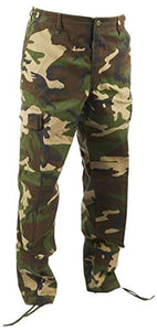 Military Uniform Supply BDU Pants with Tool Pockets - Woodland CAMO
