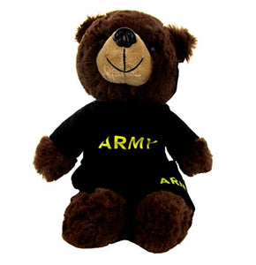 Army PT Outfit with Dog Tag on Stuffed Plush Bear