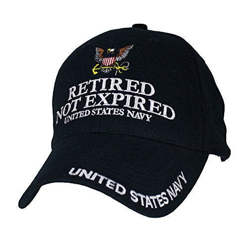 Eagle Crest U.S. Navy Retired Not Expired Baseball Cap. Navy Blue
